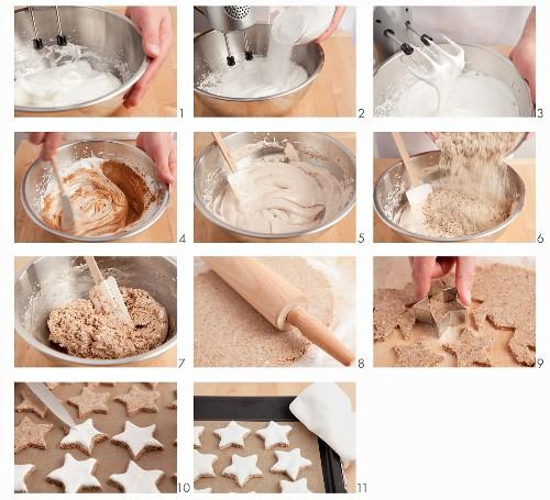 Cinnamon stars being made