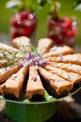 Swedish salmon tart