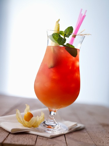 'All Together' (cocktail) with exotic fruit
