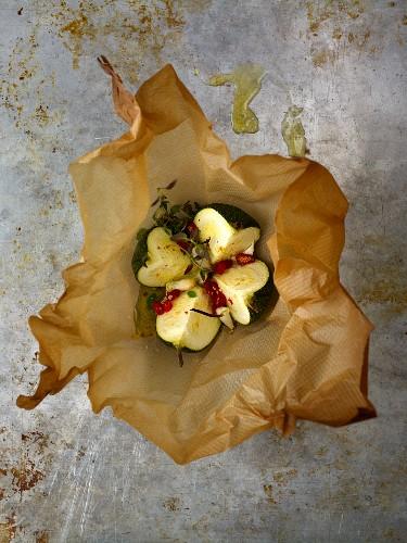 Zucchini roasted in foil