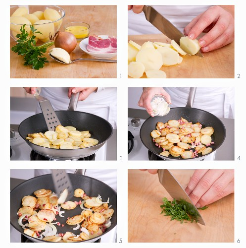 Bratkartoffeln zubereiten