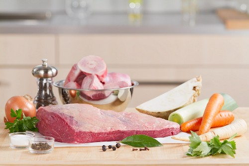 Ingredients for prime boiled beef