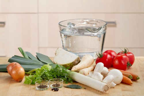 Zutaten für Gemüsebrühe