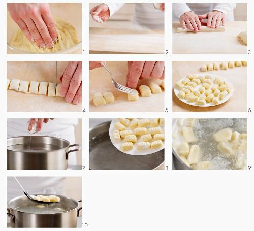 Making potato gnocchi