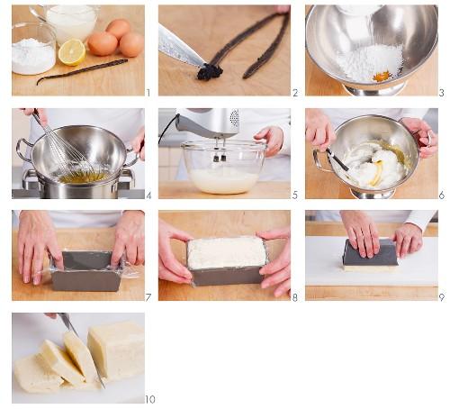 Making vanilla parfait