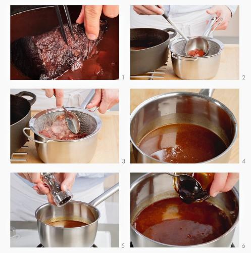 Gravy for marinated pot roast
