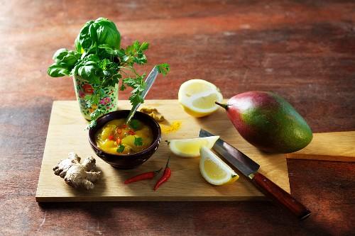 Mango chutney with ginger and chilli