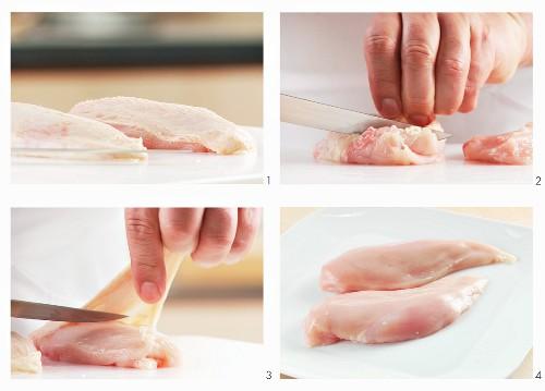 Hähnchenbrustfilets vorbereiten