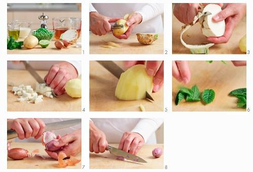 Vegetables being prepared
