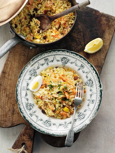 Kedgeree (Anglo-Indian rice dish with fish and eggs)