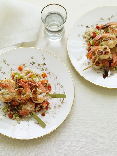 Two Servings of Shrimp and Barley Salad