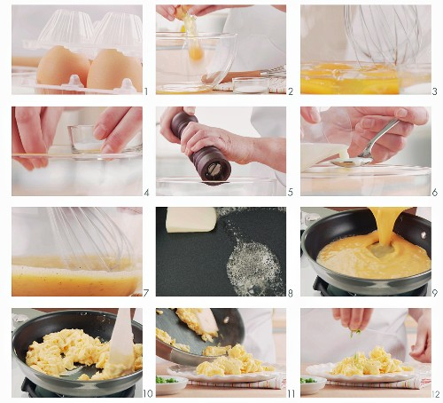Making scrambled eggs (German voice-over)