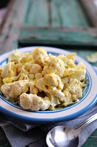 Cauliflower salad with a mustard dressing
