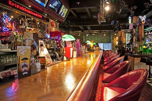 Bar at an American Style Diner