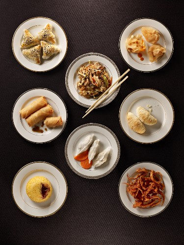 Various Asian dishes