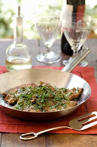 Scaloppine al limone e prezzemolo (veal cutlet with lemon sauce and parsley)