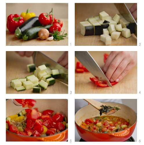 Ratatouille being made