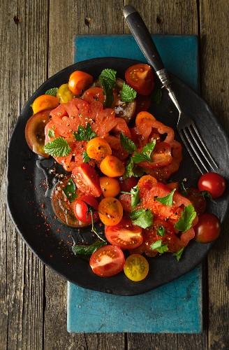 Tomato salad with mint (Turkey)