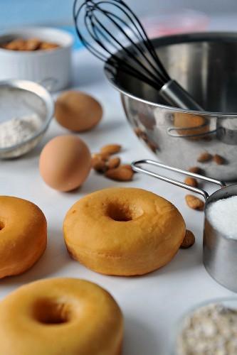 Freshly baked doughnuts