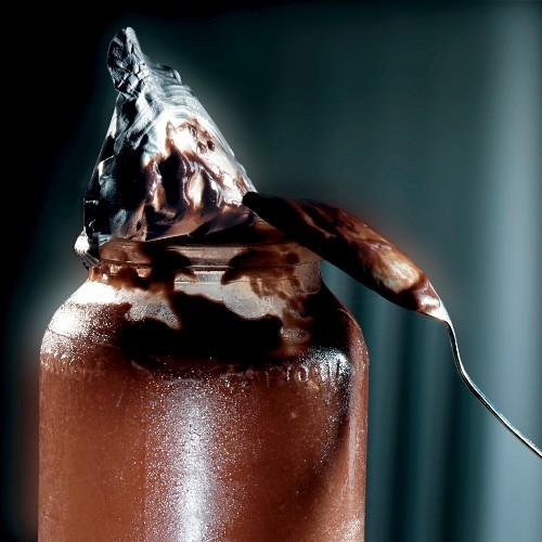 A jar of chocolate cream