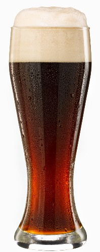 A dark wheat beer