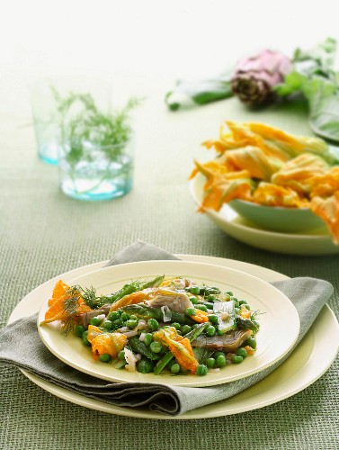 Spring vegetables with dill