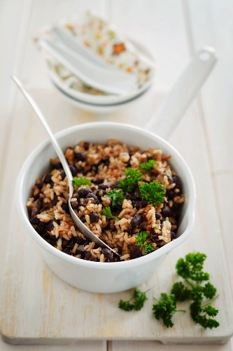 Moros y Cristianos (rice with black beans, Cuba)