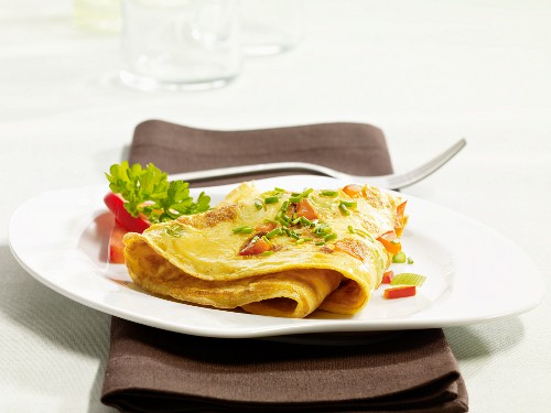 A country omelette on a plate
