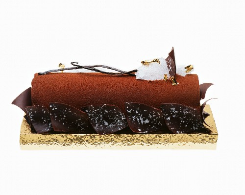 Chocolate Buche De Noel (French Christmas cake)