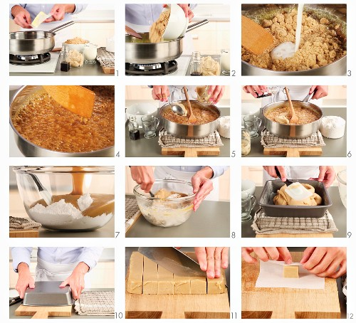 Peanut butter fudge being made