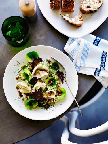 Celeriac & fennel salad with walnut dressing