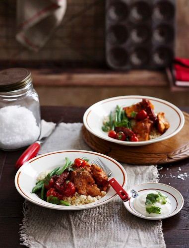 Spicy chicken with couscous
