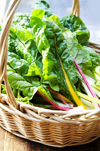 Chard in a basket