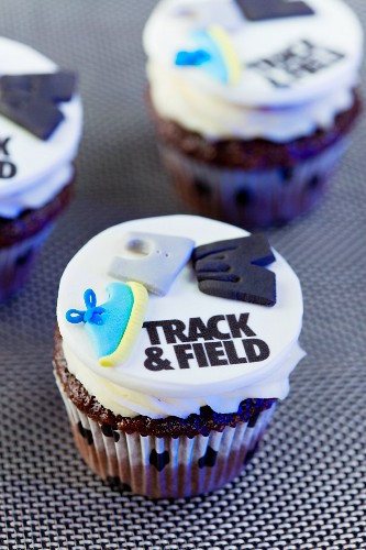 Track and Field Cupcakes