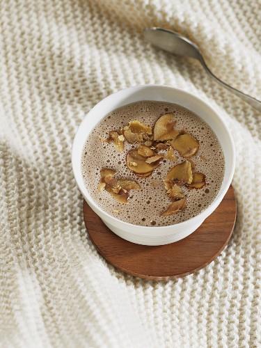 Foamy chestnut soup for Christmas