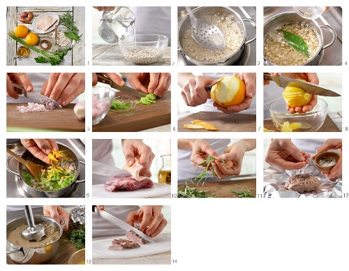 How to prepare bean and orange soup with duck breast