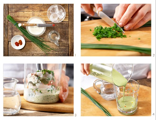 How to prepare a paprika yoghurt drink with chives