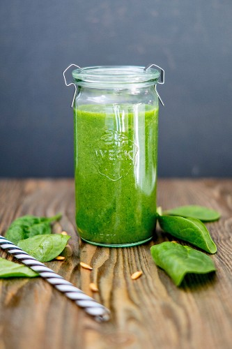 A spinach and melon smoothie