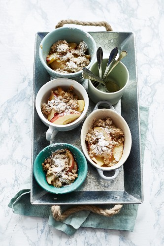 Baked apple with muesli crumble