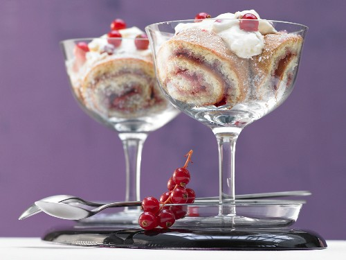 Charlotte royale with currant-champagne mousse