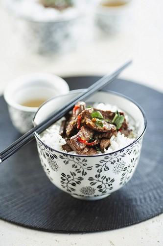 Stir-fried Thai Lamb with Chilli and Mint