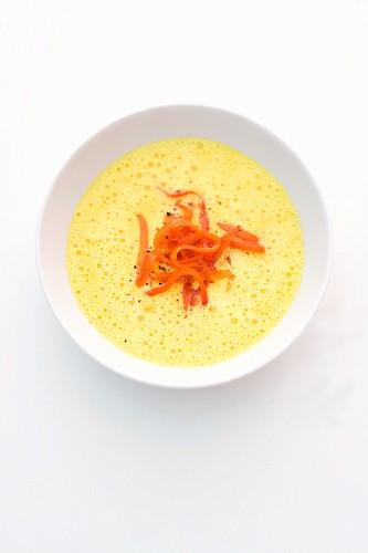 Pepper and saffron soup