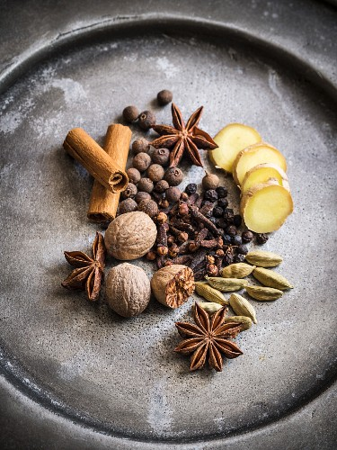 Various spices for gingerbread