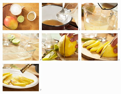 How to make coconut granita with mango