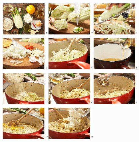 How to prepare risotto with fennel, chili and orange peel