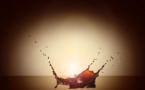 Coffee with a splash