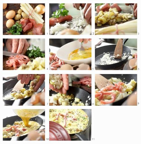 How to prepare an asparagus frittata