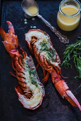 Grilled lobster with Béarnaise sauce