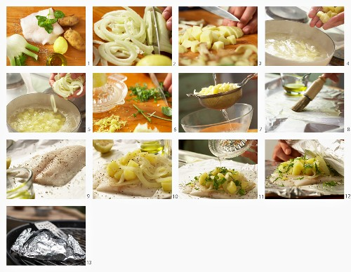 How to make halibut with fennel and potatoes