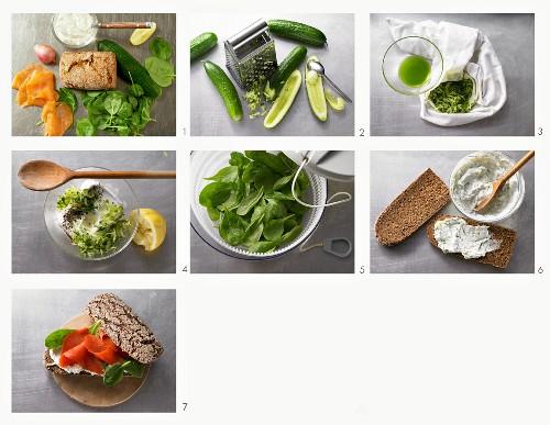 How to make a wholegrain salmon sandwich
